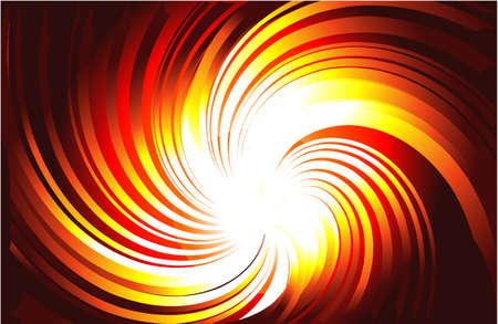 ciel rouge: Vortex de jaune et Burning Red Light Rays