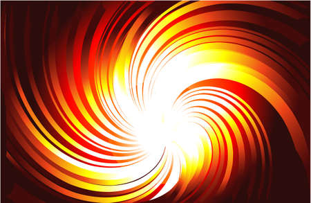 Vortex of Yellow and Red Burning Light Rays Vector