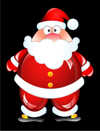 Funny Santa Humor Glossy icon Stock Vector - 4897197