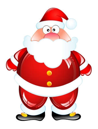 Funny Santa Humor Glossy icon Vector