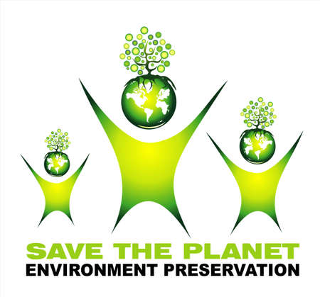environmentally friendly: Environment Saving and Nature Card background