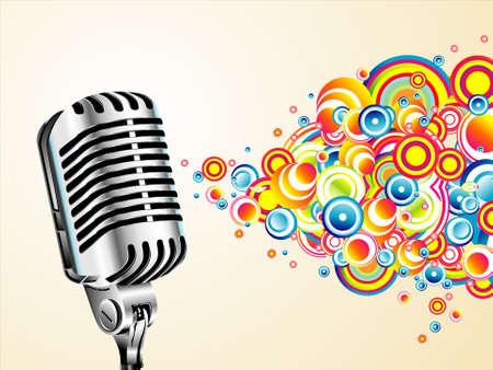 mic: Un magico microfono cantando bolle colorate