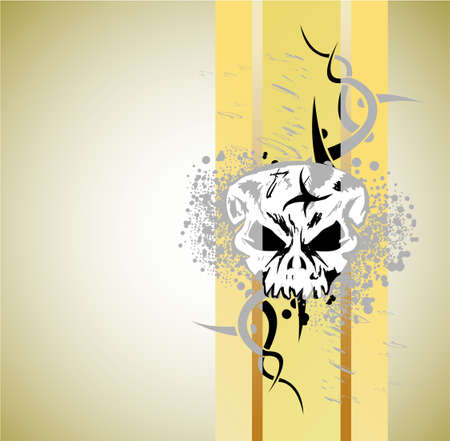 Abstract Design of a Grunge Skull Background Vector