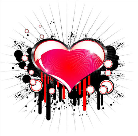 Heart beautiful valentines background. Vector