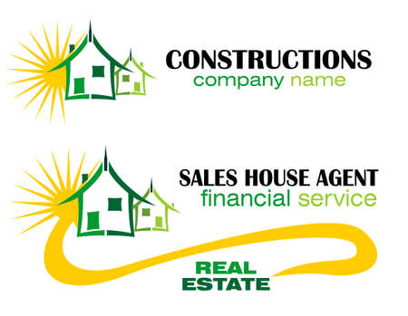 inspecting: Conceptual symbol and Icons for real estate company