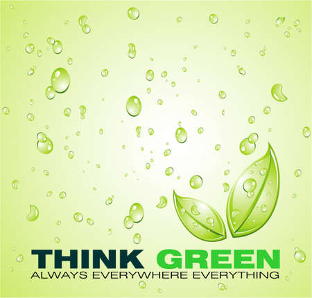 Green Water background for an ecology background or brochure Stock Vector - 4897205