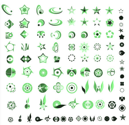 90 more logo design elements ready to cut and paste Stock Photo - 4917123