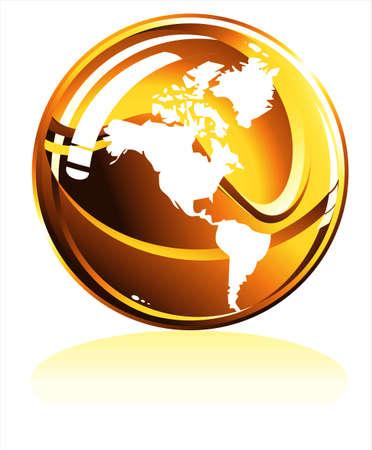meridian: Perfect spherical 3D globe map