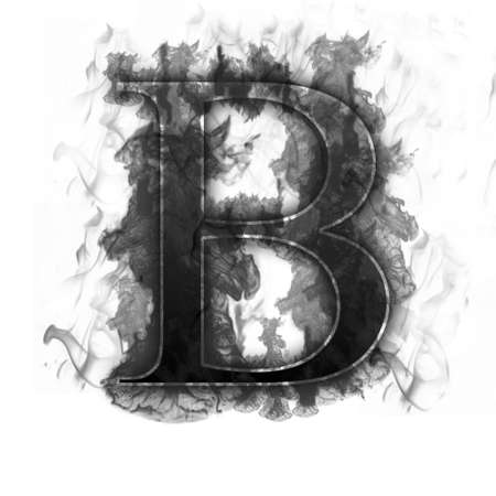 engulfed: Burning Letter with true flames and smoke - other letters in my portfolio