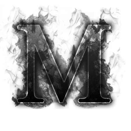 wildfire: Burning Letter with true flames and smoke - other letters in my portfolio