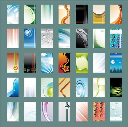 35: Collection of 35 Abstract Business Card