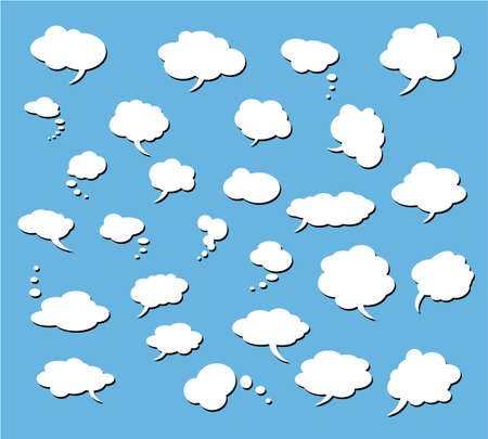 Collection of Various comic clouds - Set 3