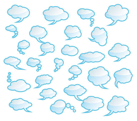 cartooning: Collection of Various comic clouds - Set 3