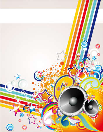 abstract dance: Dance and Music Event Background for poster or brochure Illustration