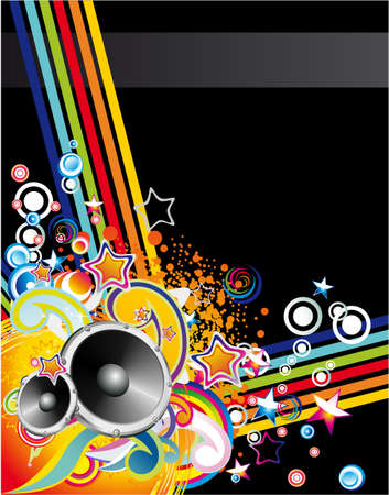 music dj: Dance and Music Event Background for poster or brochure Illustration