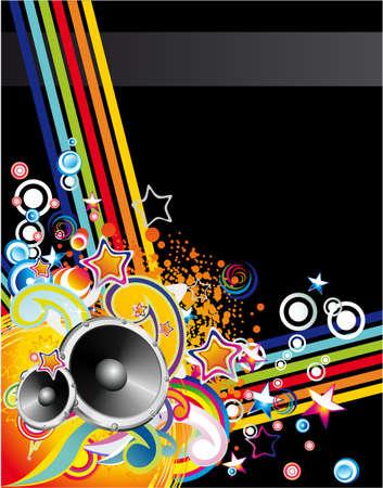 musique dance: La danse et la musique pour l'�v�nement de base affiche ou brochure