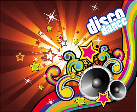 Background with an Explosion of Colors with music design elements Stock Vector - 5066076