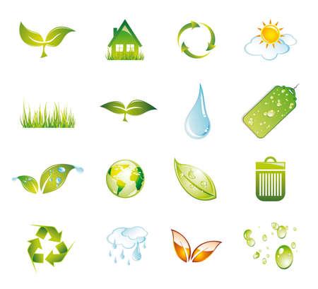 antipollution: Medio ambiente y la colecci�n de iconos Verde - Grupo 1
