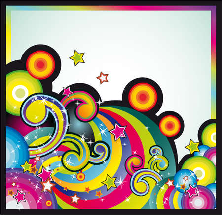 Background Mix of Fantasy Design Elements  Stock Vector - 5065984