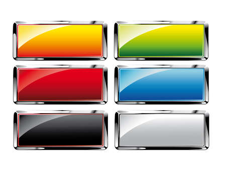 reflective: Ultra Glossy Reflective Colorful Buttons