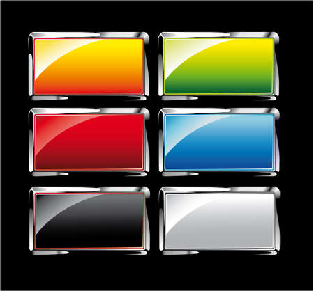 Ultra Glossy Reflective Colorful Buttons