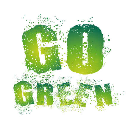 Environment Grunge Style Go Green Background   Vector