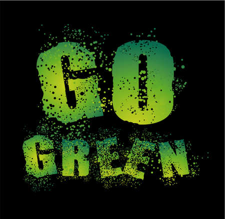 Environment Grunge Style Go Green Background Stock Vector - 5066108
