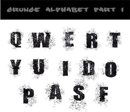 urban style: Grunge Black Alphabet Dirty Urban Style - Part 1