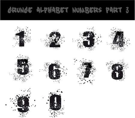 spattered: Grunge Negro Alfabeto Urbano Estilo Sucio - Parte 3 Vectores