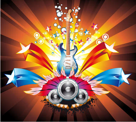 Dance and Music Event Background for poster or brochure Stock Vector - 5066065