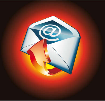 3D Colorful Hot Email Icon Vector