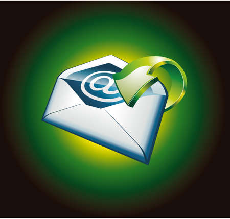3D Colorful Green Important Email Icon Stock Vector - 5065936
