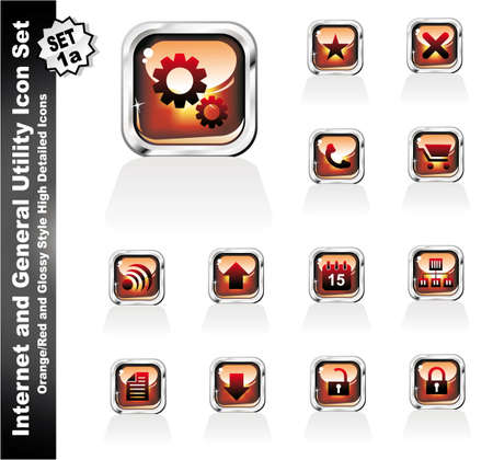 Internet and General Utility Icon Collection Set - 1a Vector