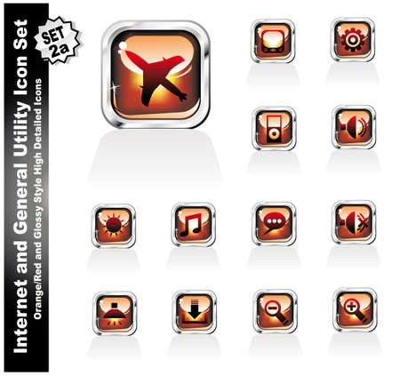 Internet and General Utility Icon Collection Set - 2a Stock Vector - 5066131