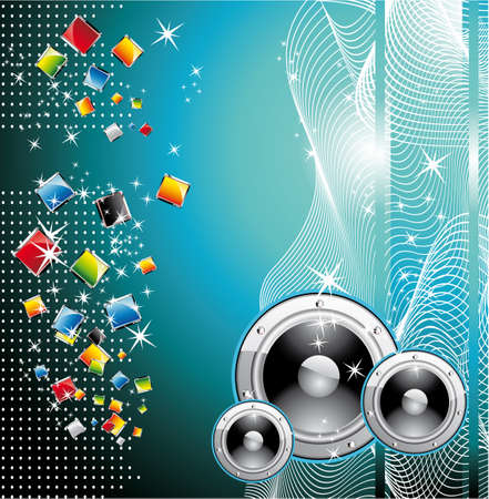 discoteque: Colorful Techno Dance Futuristic Background