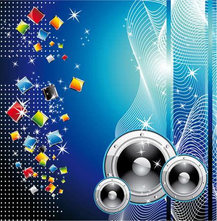 Colorful Techno Dance Futuristic Background Stock Vector - 5066066