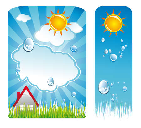 Sun and Clouds Weather Delicate Backgrounds Stock Vector - 5066057