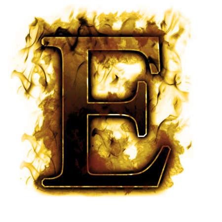 ardent: Lettera Burning con fiamme e fumo vero - altre lettere nel mio portafoglio Archivio Fotografico