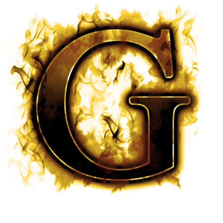 Burning Letter with true flames and smoke - other letters in my portfolio