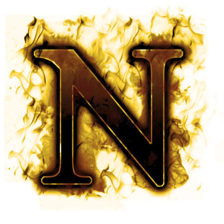 Burning Letter with true flames and smoke - other letters in my portfolio photo