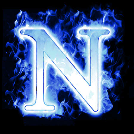 ardent: Lettera Burning con Cold fiamme Blue - Ice Flame Alphabet