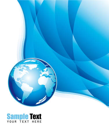 meridian: Abstract Global Blue Waves Background