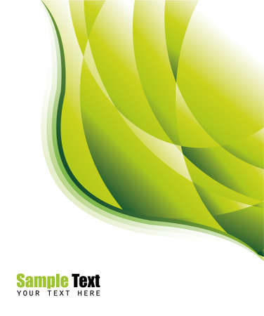 Abstract Lines Business Green Flyer Illustration