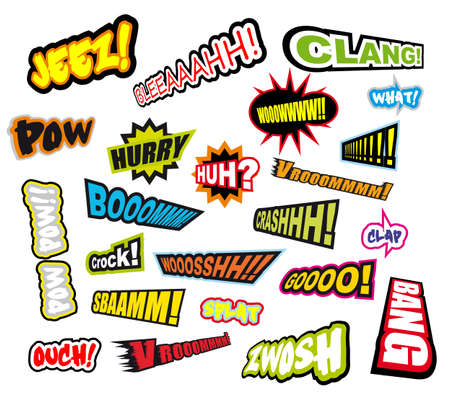 Collection of colorful of Comic Word Expressions - Set 2 Illustration