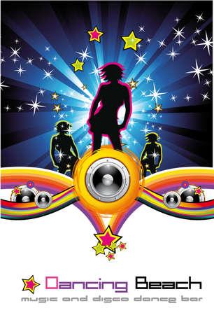 canta: Donna vicina sfondo per Disco Dance Flyer