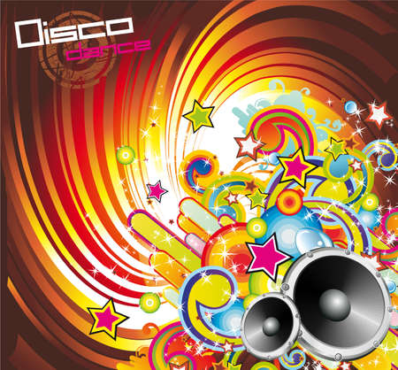 discoteque: Disco Dance Colorful Background for Music Event Flyers
