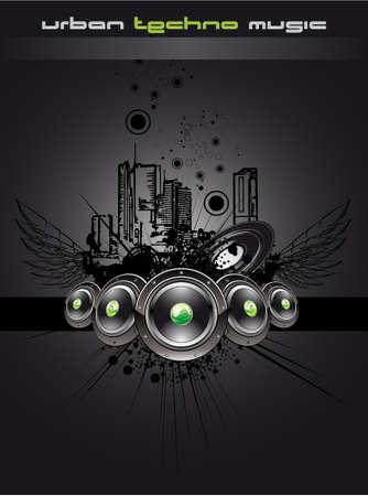 equipo de sonido: Urbano Baile Disco Music Event antecedentes para Flyers