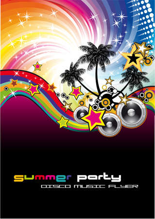Magic Nigh Musical Event Background with Rainbow colorful Background Stock Vector - 5523729