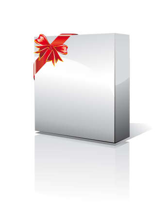 gift packs: 3D Box with reflection, Shadow and space for text or image