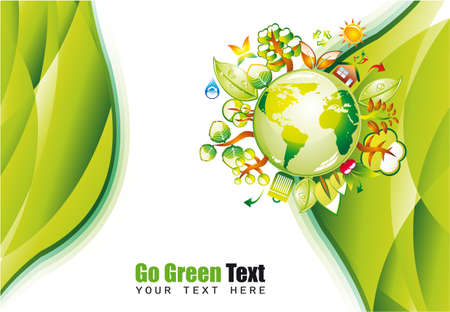 equator: Ecology Green Environmen Background with Eco Earth Illustration